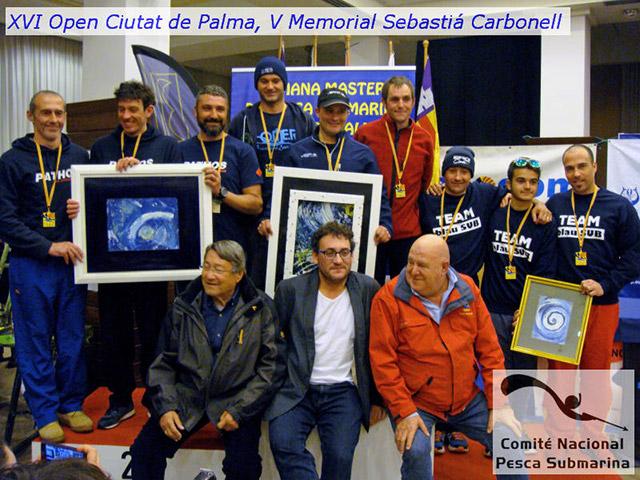 Open Ciutat Palma 2016 podio