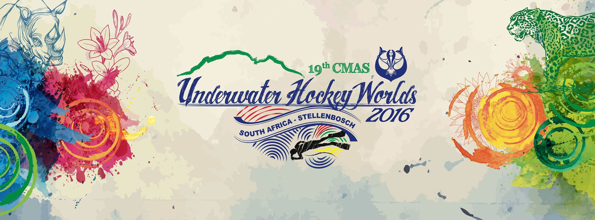 Cartel Mundial Sudafrica Hockey Subacuático