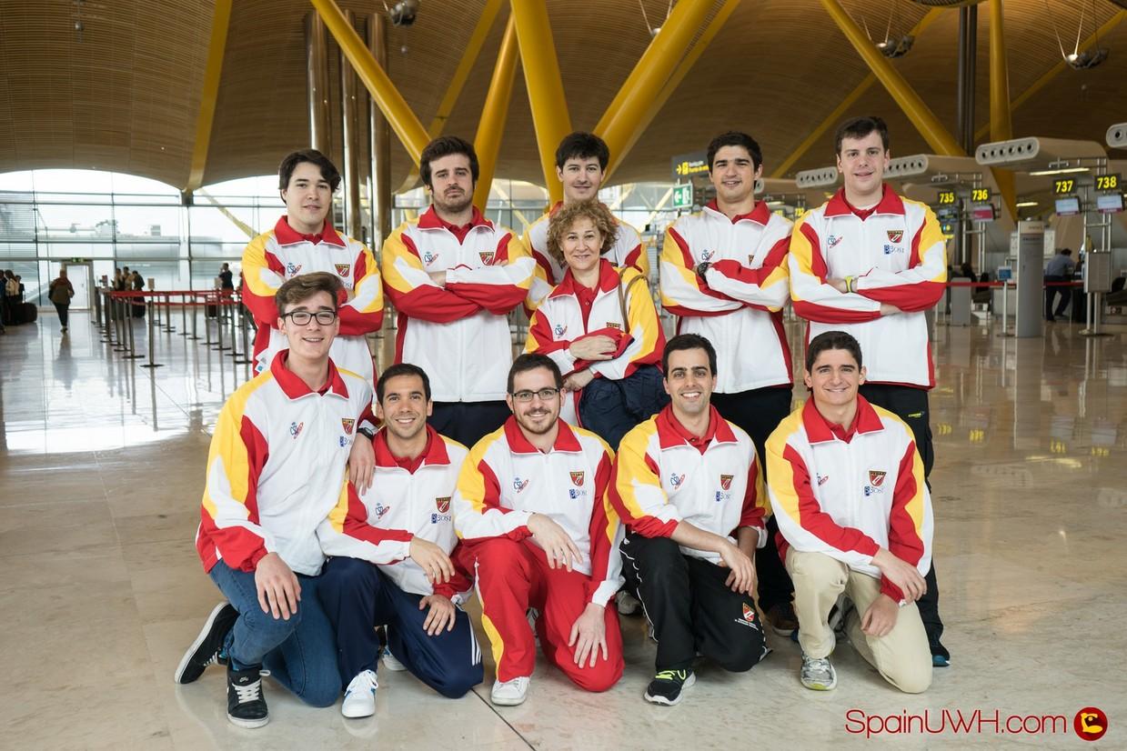 Seleccion Española Masculina Hockey Subacuatico en Barajas