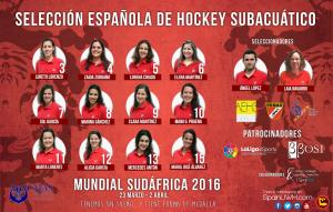 Seleccion Española Femenina Hockey Subacuatico