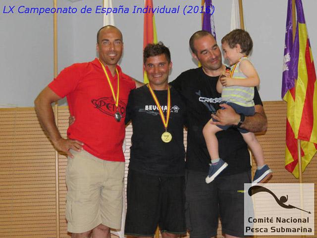 Podio del LX Campeonato de España