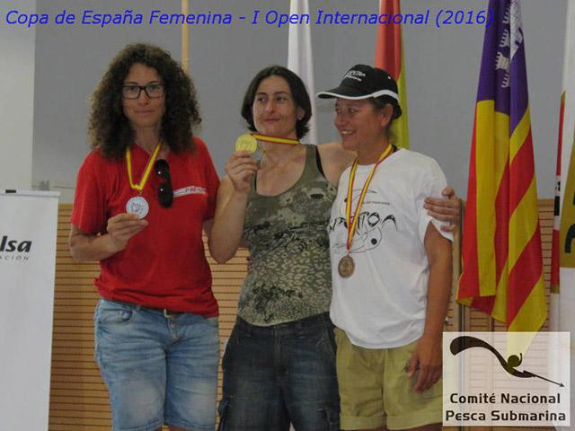Copa Femenina 2016 podio