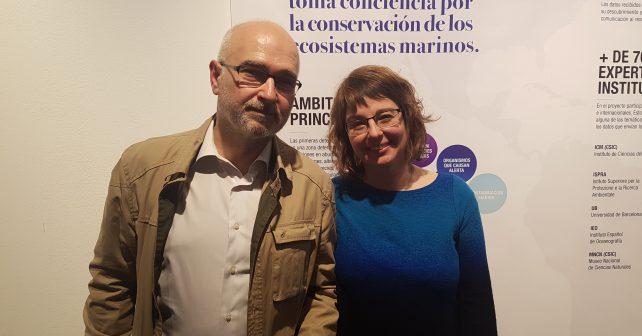 Elisabetta Broglio (Observadores del mar) y Guillermo Álvarez (Departamento MMFEDAS)